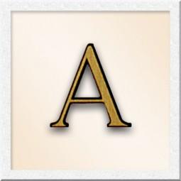 Бронзовая буква