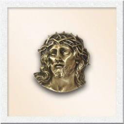 Лик Иисуса из бронзы 10210-15