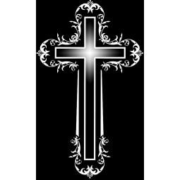 "Гравировка знака ""Крест на памятник""  — mc004"
