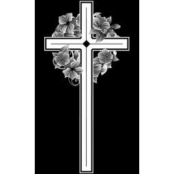 "Гравировка знака ""Крест на памятник""  — mc006"