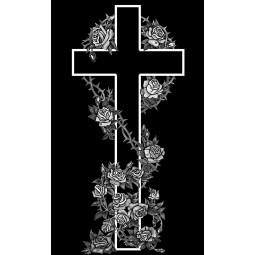 "Гравировка знака ""Крест на памятник""  — mc007"