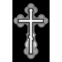 "Гравировка знака ""Крест на памятник""  — mc014"