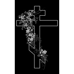 "Гравировка знака ""Крест на памятник""  — mc020"