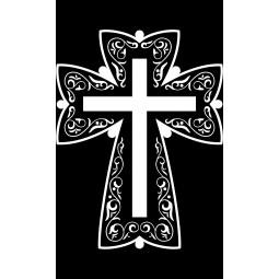 "Гравировка знака ""Крест на памятник""  — mc022"