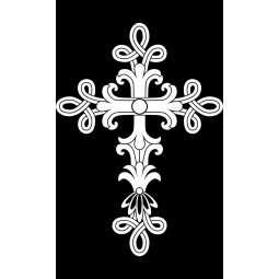 "Гравировка знака ""Крест на памятник""  — mc025"