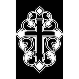 "Гравировка знака ""Крест на памятник""  — mc027"