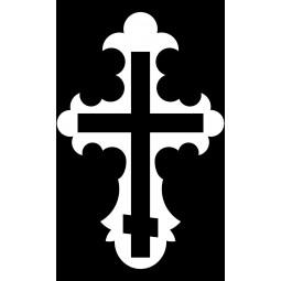 "Гравировка знака ""Крест на памятник""  — mc029"