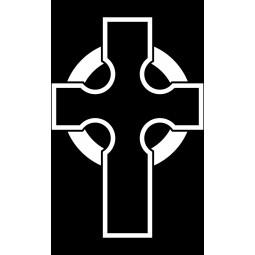 "Гравировка знака ""Крест на памятник""  — mc030"