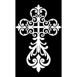 "Гравировка знака ""Крест на памятник""  — mc036"