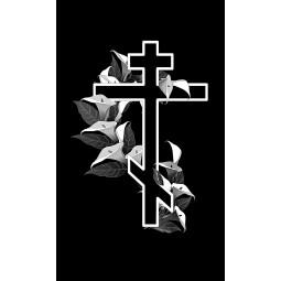 "Гравировка знака ""Крест на памятник""  — mc037"