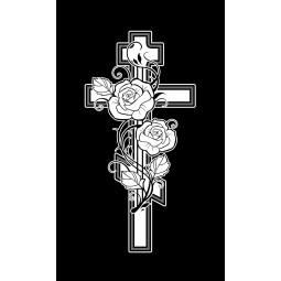 "Гравировка знака ""Крест на памятник""  — mc040"