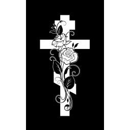 "Гравировка знака ""Крест на памятник""  — mc041"