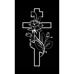 "Гравировка знака ""Крест на памятник""  — mc042"