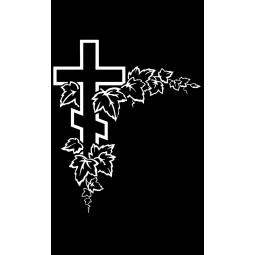 "Гравировка знака ""Крест на памятник""  — mc043"