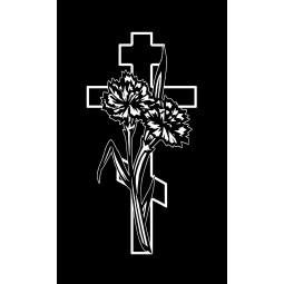 "Гравировка знака ""Крест на памятник""  — mc047"