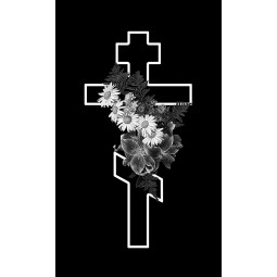 "Гравировка знака ""Крест на памятник""  — mc048"