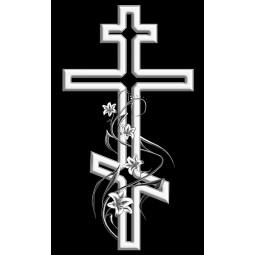 "Гравировка знака ""Крест на памятник""  — mc049"