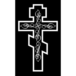 "Гравировка знака ""Крест на памятник""  — mc051"
