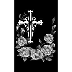"Гравировка знака ""Крест на памятник""  — mc053"