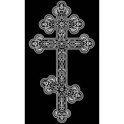 "Гравировка знака ""Крест на памятник""  — mc055"