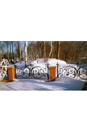 Ковка ограда № 17